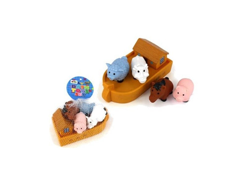 Noah's Ark and  Animals Bath Toy Set - 4 Animals with Boat