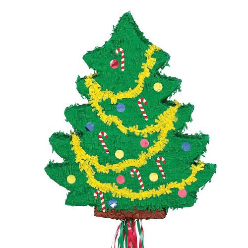 Christmas Tree Decorated Pull String Pinata