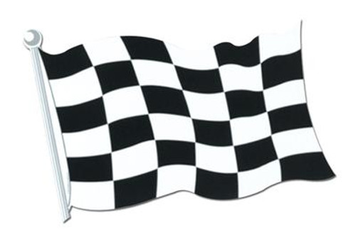 Chequered Flag Cut Out - 45 cm