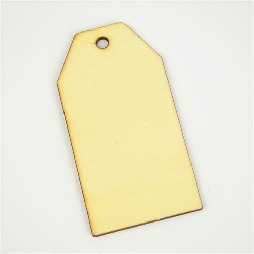 Natural Wooden Tags - Pack of 12
