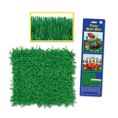 Green Tissue Grass Mats - 2 Pieces (38 cm x 76 cm)