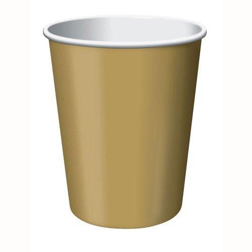 Glittering Gold Paper Cups - 24 Pack