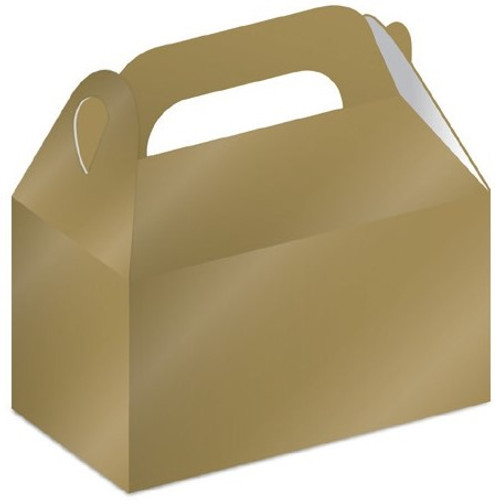 Gold Treat Boxes  (7 x 8cm) - 8 Pack