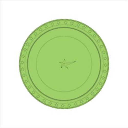 Plastic Plates (Small)  - Lime Green - 25 Pack