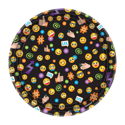 LOL Emoji Luncheon Plates - Pack of 8