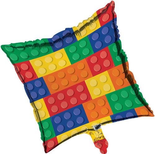 Lego Inspired Block Party 45cm Foil Balloon