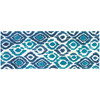 Blue and Green Ikat