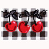 A bold combination of classic colors, red, black and white will bring sophistication with the placement of this kitchen rug. The cherry themed Jellybean® accent rug features machine washable, polyester crafting. Created with real life in mind, this indoor/outdoor rug was designed by Ellen Krans.