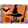 Witches Hat Halloween Rug w/ Pumpkin & Bat 20 x 30 Jellybean Accent Rug