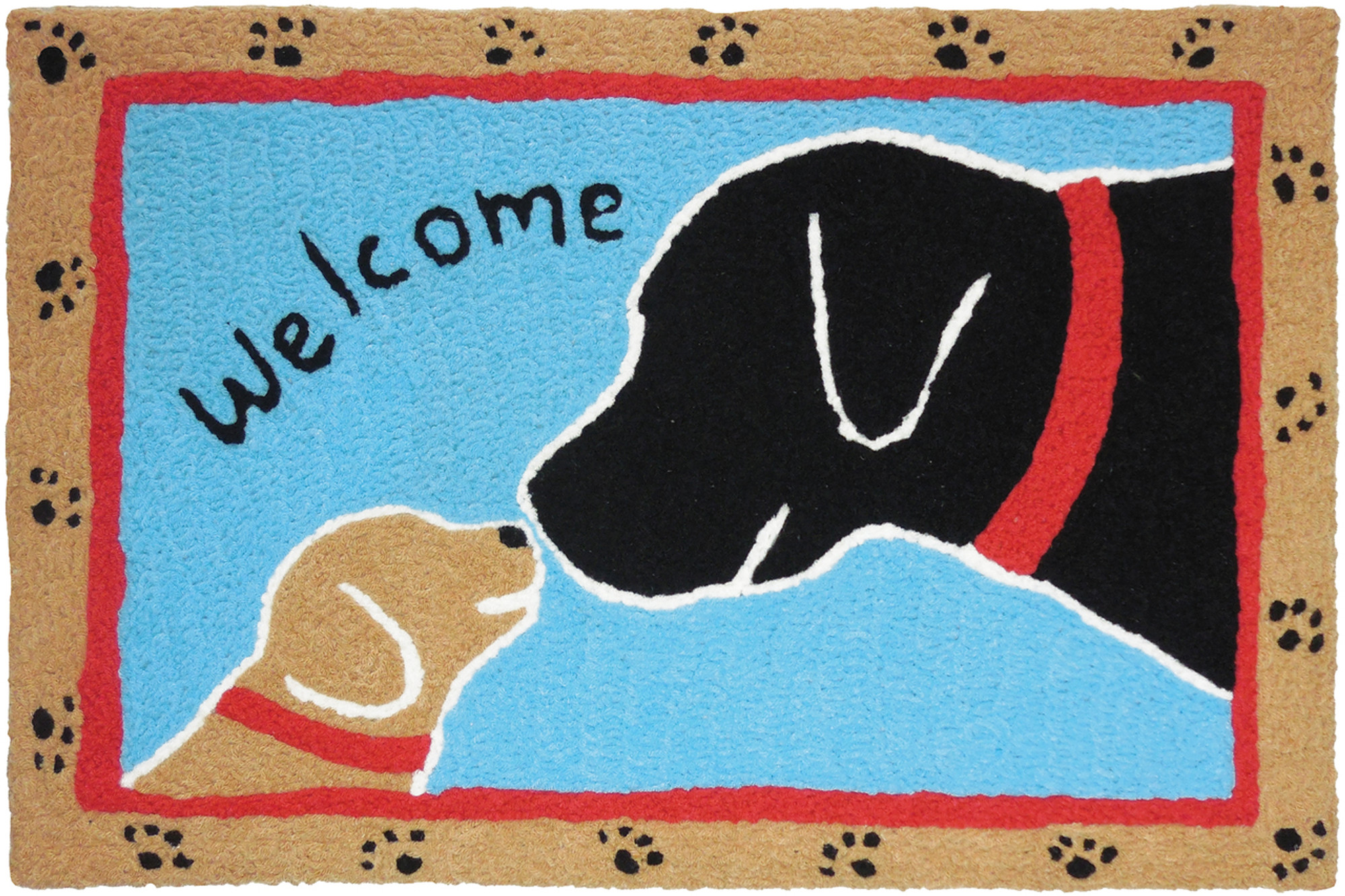 Jellybean Welcome Pup Accent Rug