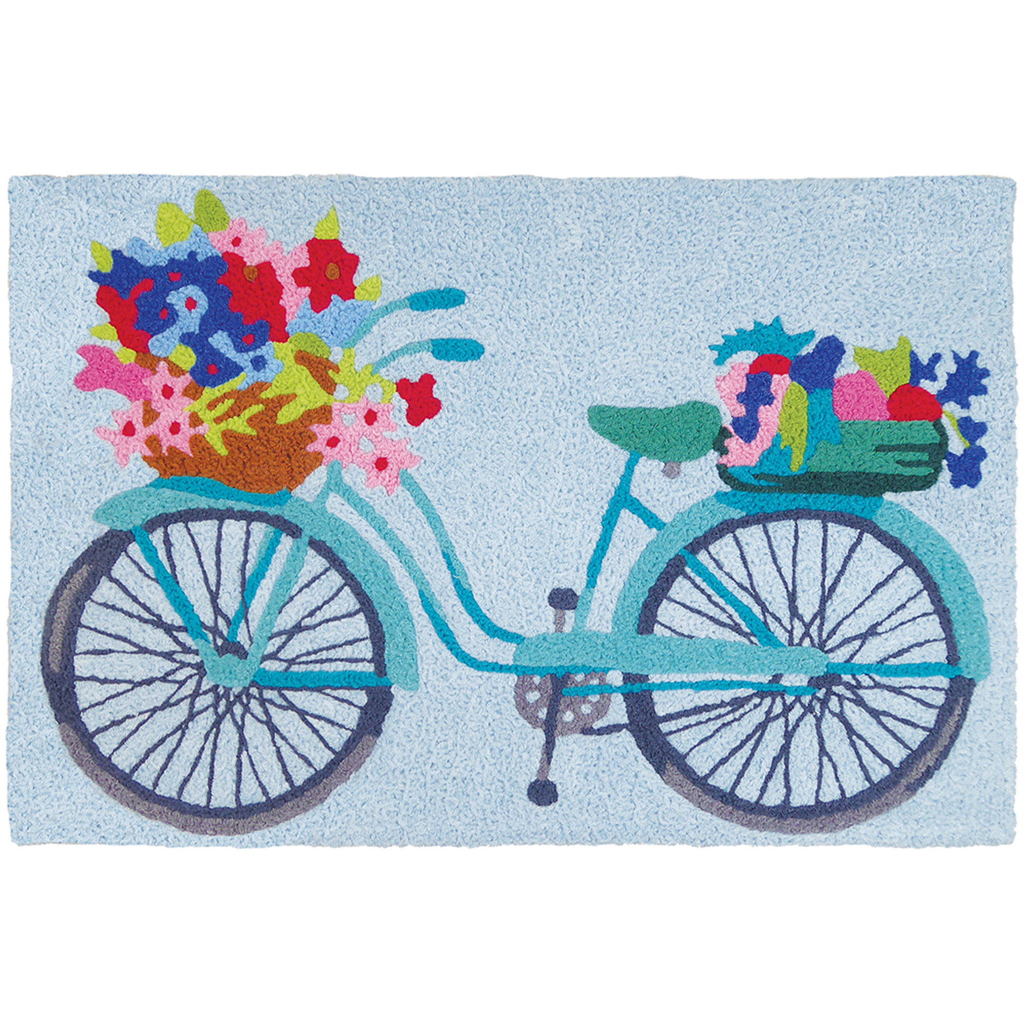 Flower Basket On Bicycle