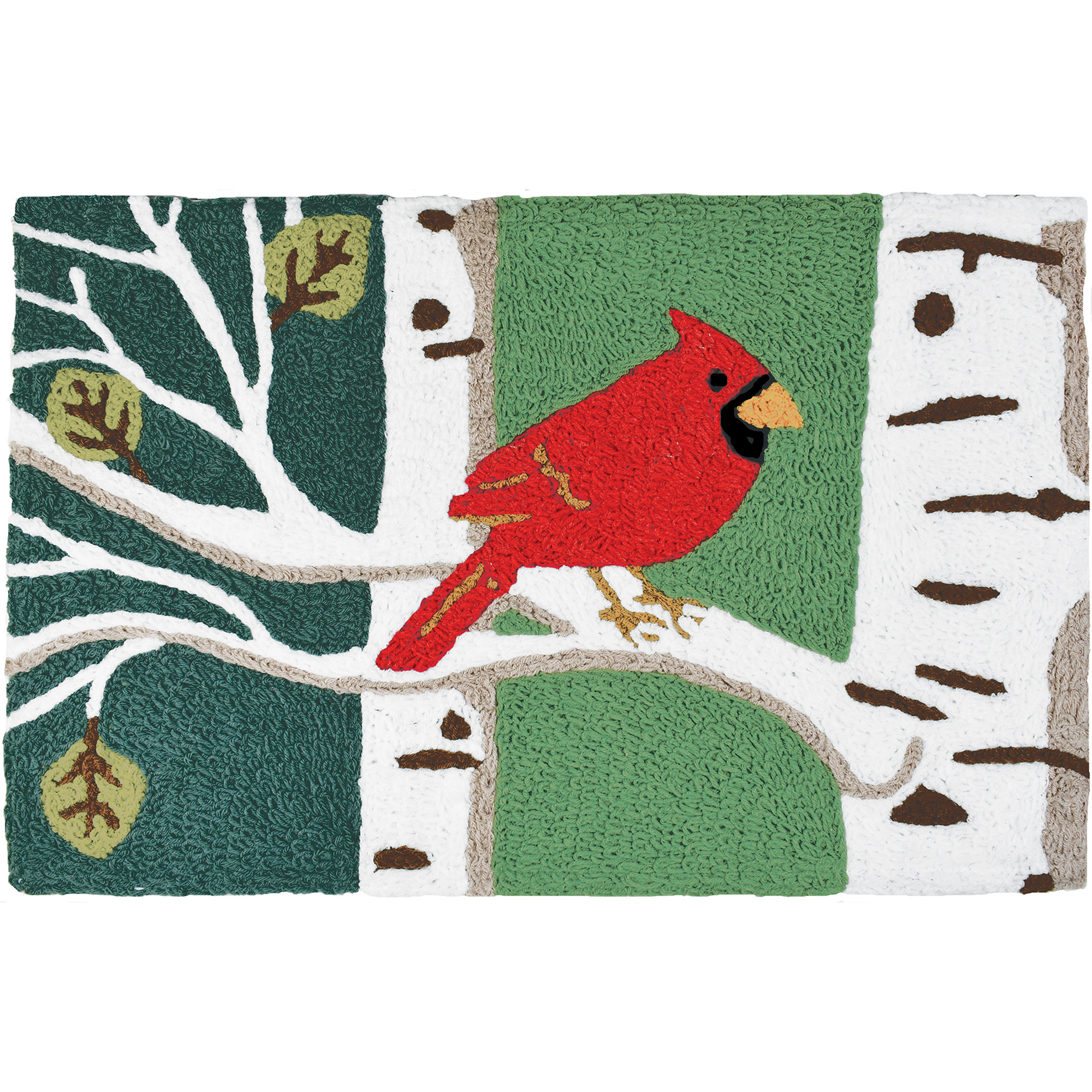 Cardinal in Birch Tree