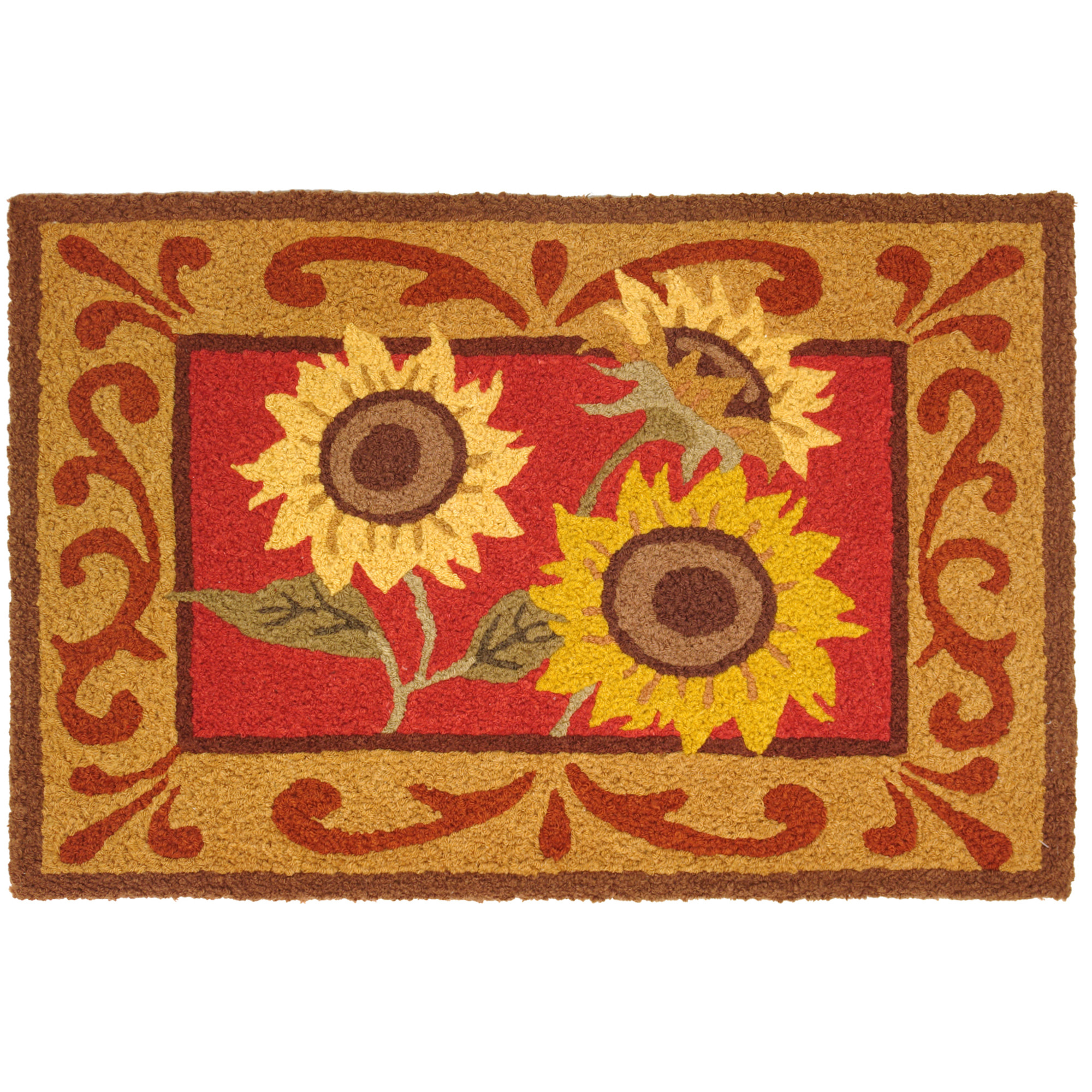 Provence Sunflowers Jellybean Accent Rug