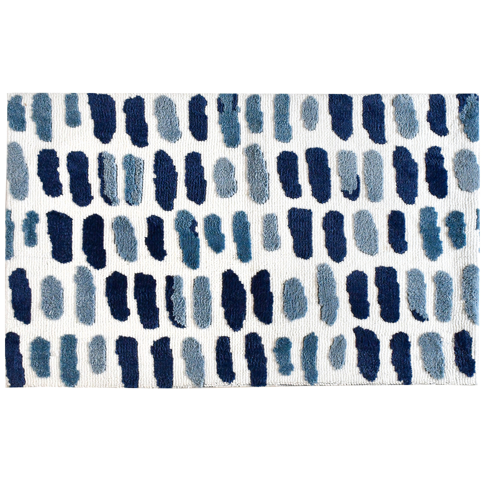 Hues of the Mediterranean are captured in their beauty and harnessed on this Simple Spaces by Jellybean® accent rug. The cool colors and easy pattern of this rug will warm up the area of your choice.