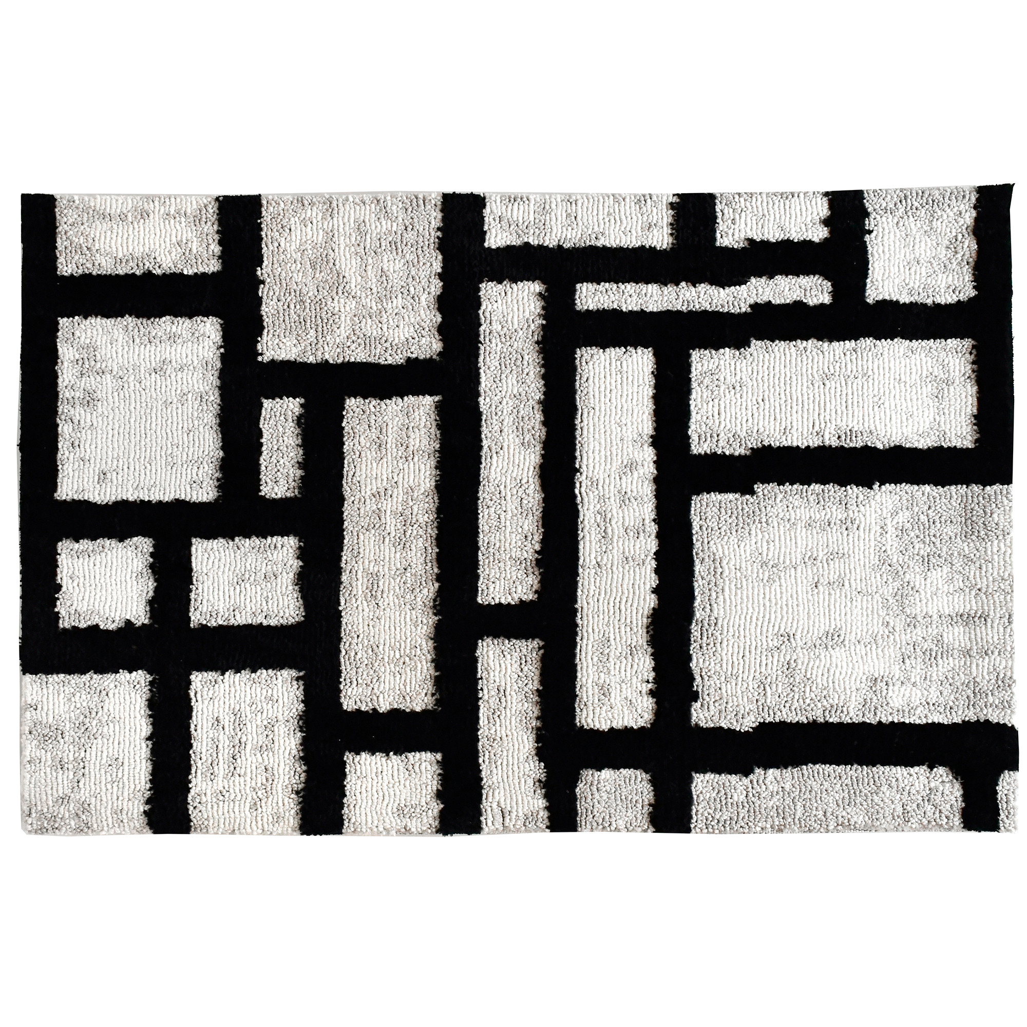 Moira Hershey has trapped our attention in an intricate labyrinth on this Simple Spaces by Jellybean® accent rug. The bold black strokes against the cream background offers a timeless combination of colors while making a bold statement. Available in two sizes, this accent rug will present style wherever it is introduced.