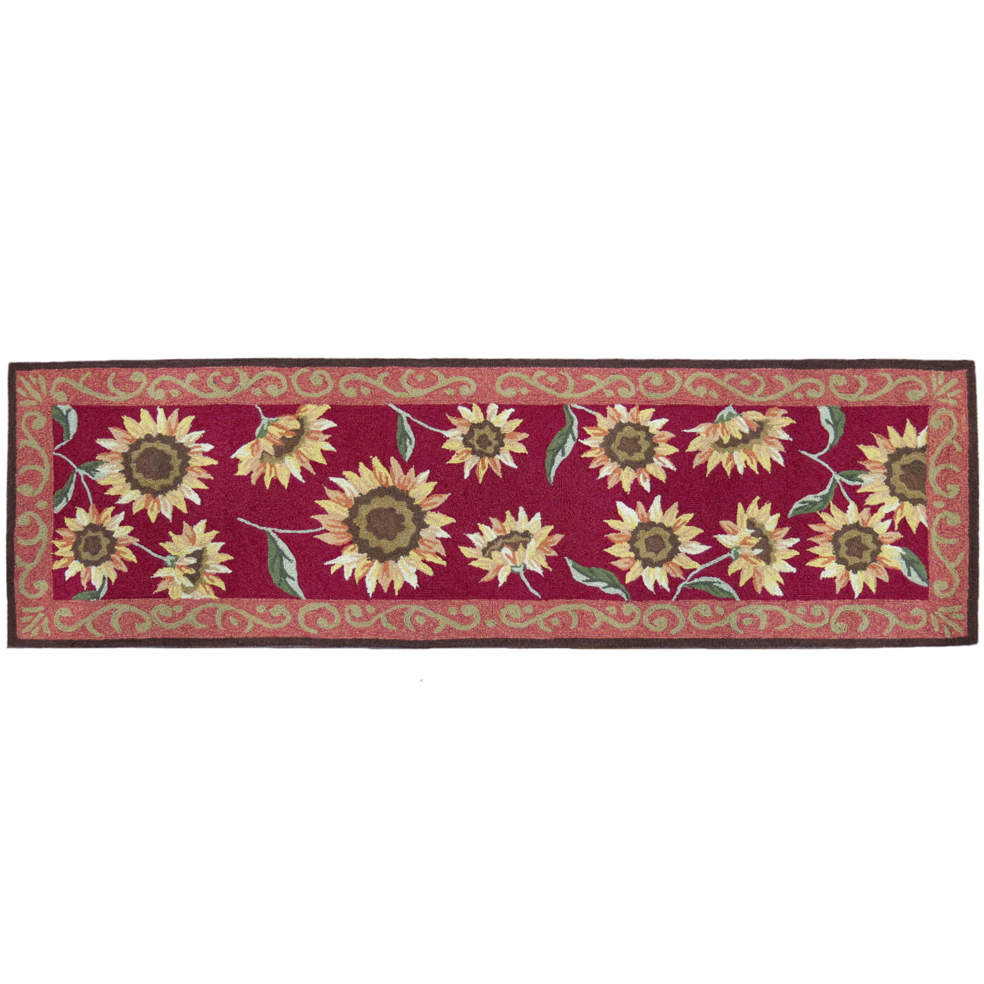Provence Sunflowers Floral Runner Rug