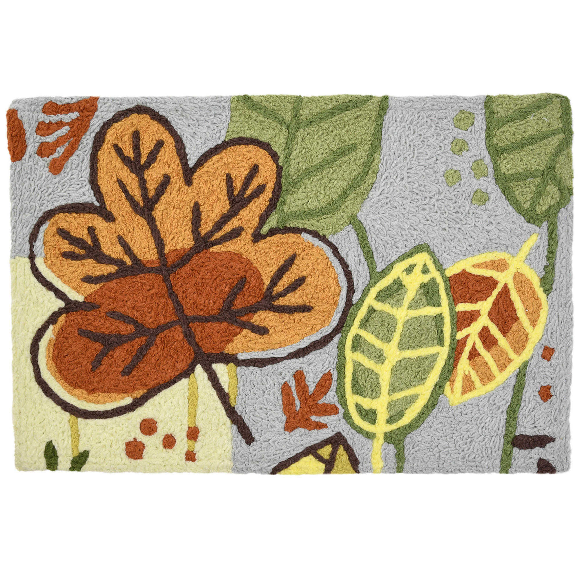 Leaves Themed Rug with Leaves Fall Colors 20 x 30 Jellybean Accent Rug