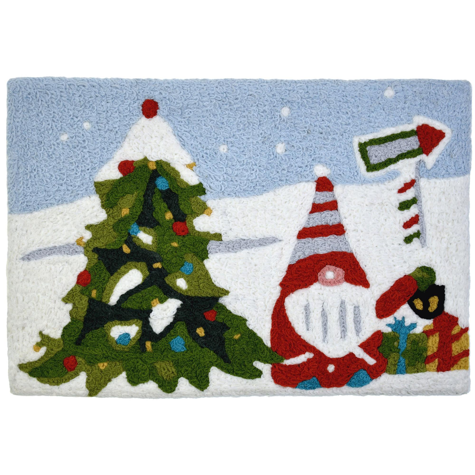 Christmas Gnome w/ Christmas Tree Rug 20 x 30 Jellybean Accent Rug