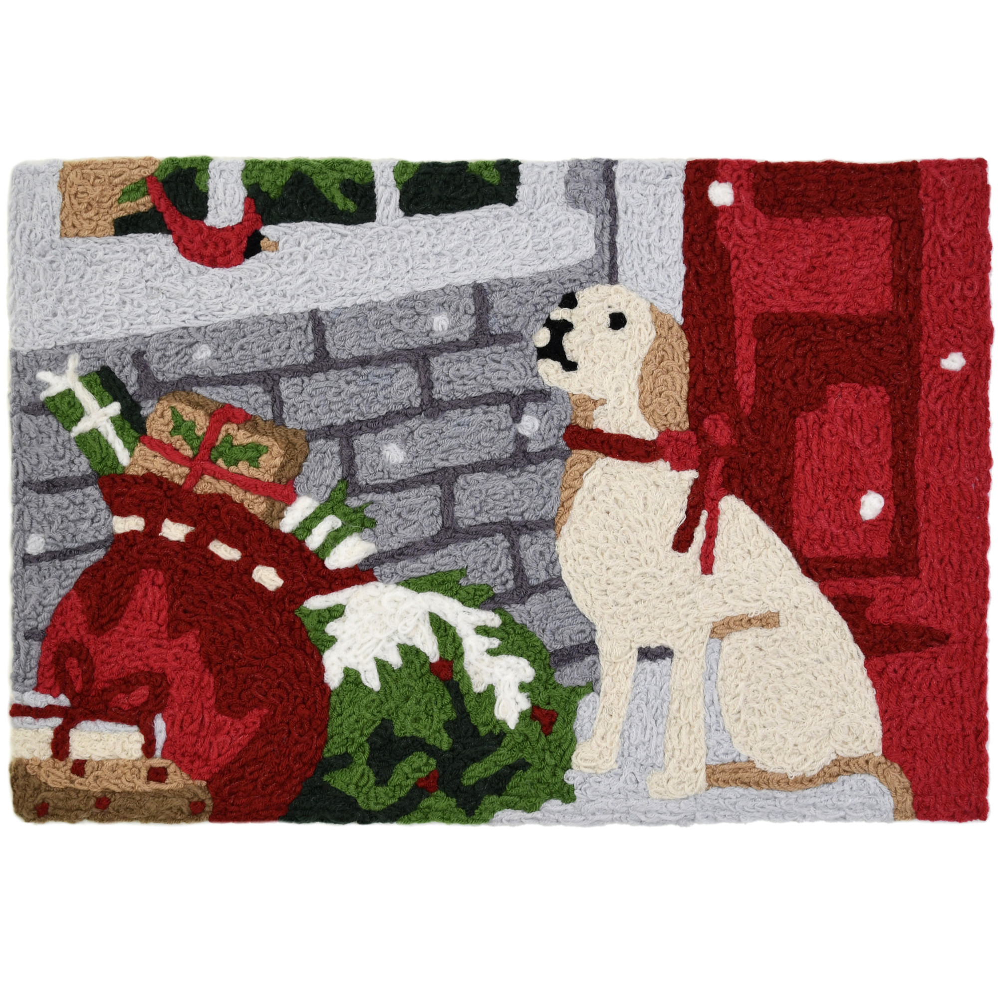 Lab With Presents Christmas Rug w/ Dog 20 x 30 Jellybean Accent Rug