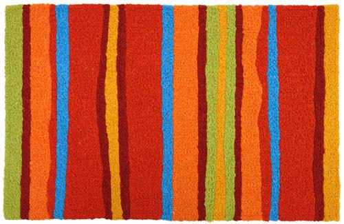 Jellybean Fiesta Stripes Accent Rug