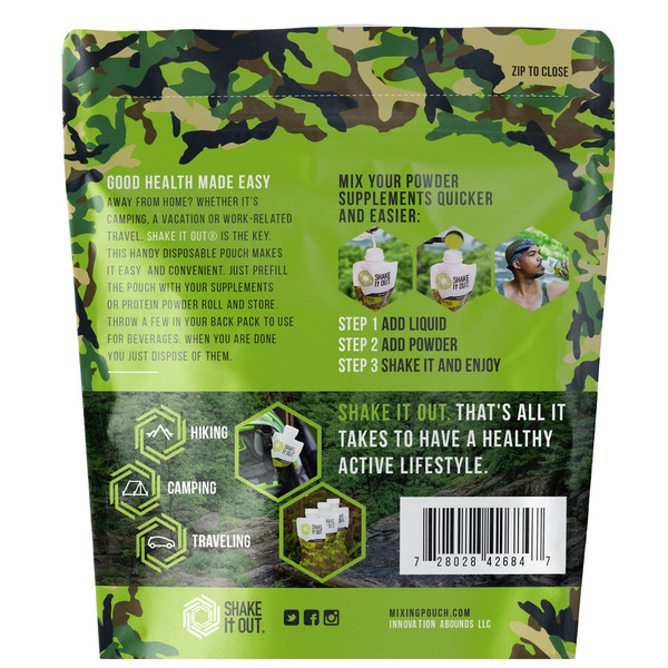 SHAKE It OUT ® - Camo Mixing Pouch Pack of 7