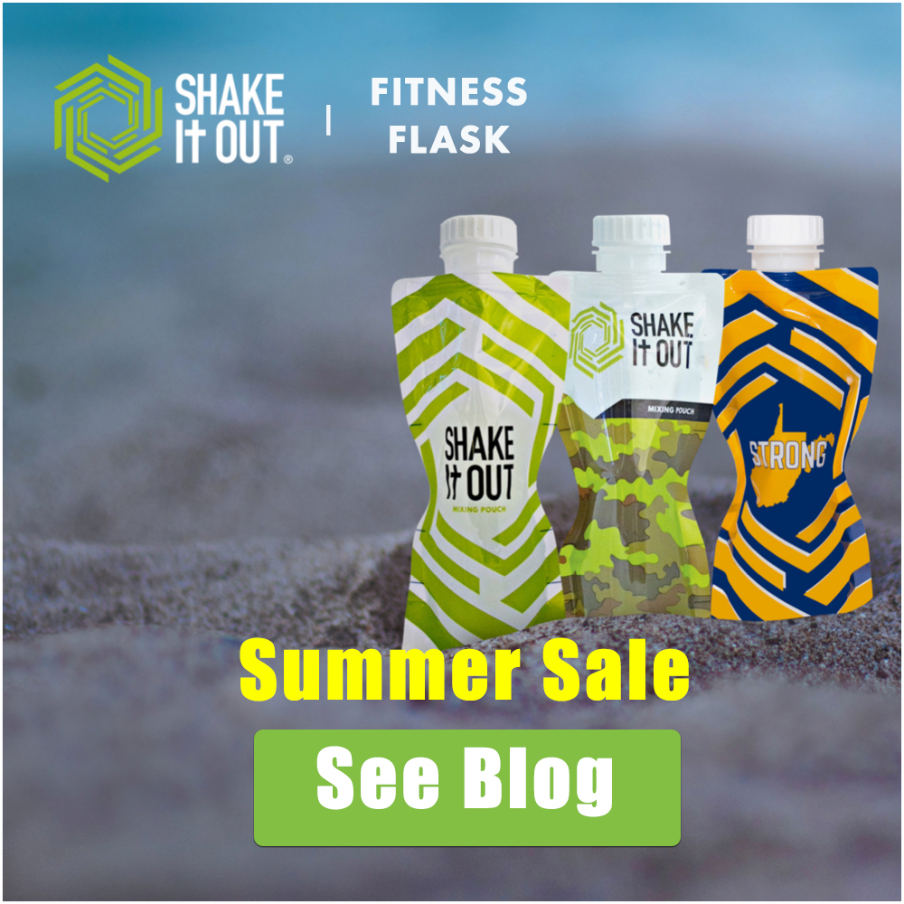 Fitness Flasks on the beach