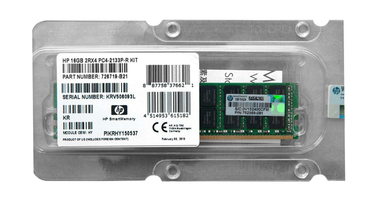 726719-B21 - HP 16GB (1x16GB) PC4-17000 DDR4-2133Mhz SDRAM