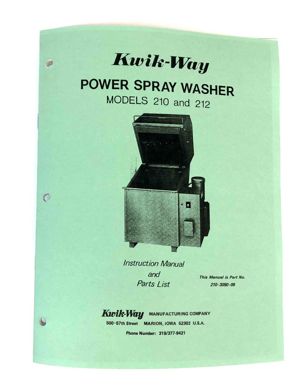 Kwik Way Model 210 & 212 Manual