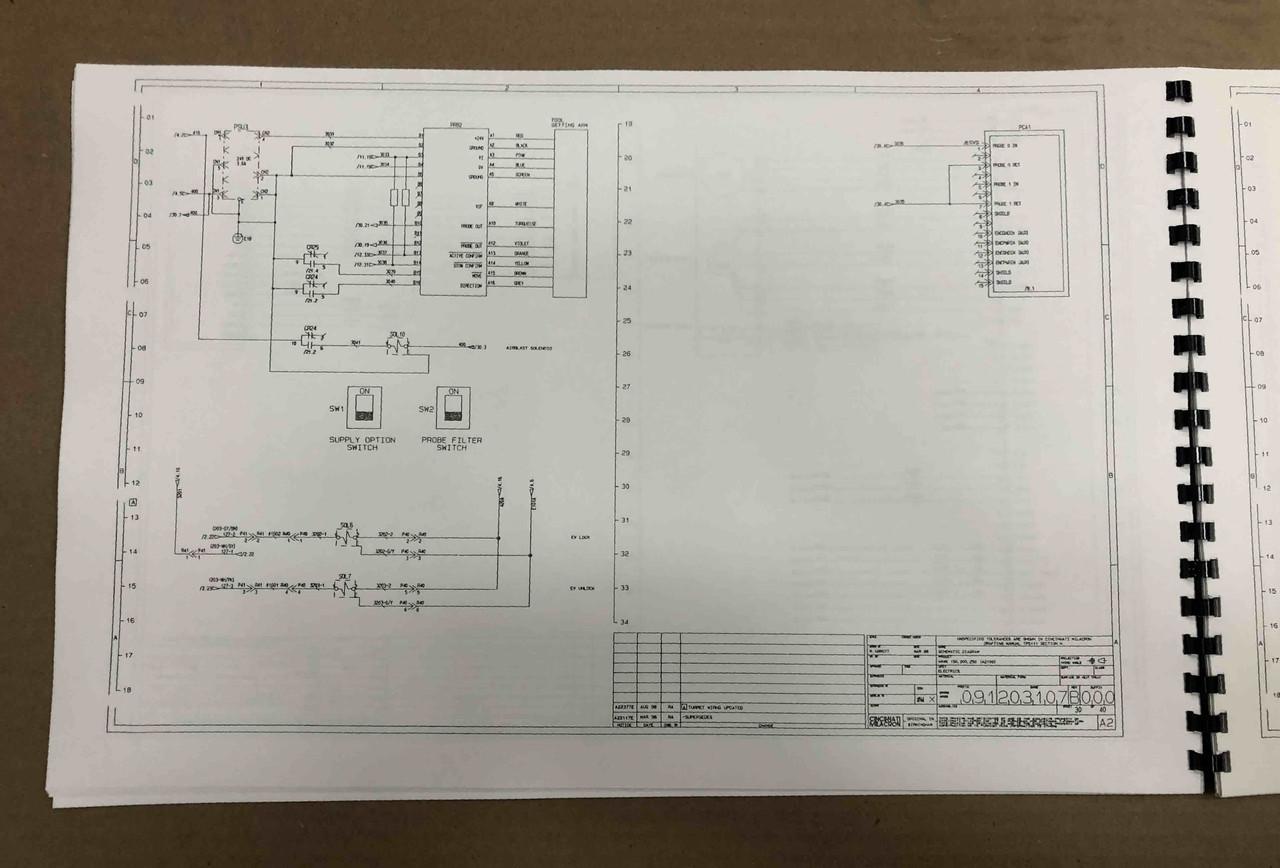 Cincinnati Milacron Hawk 200 Wiring Schematics