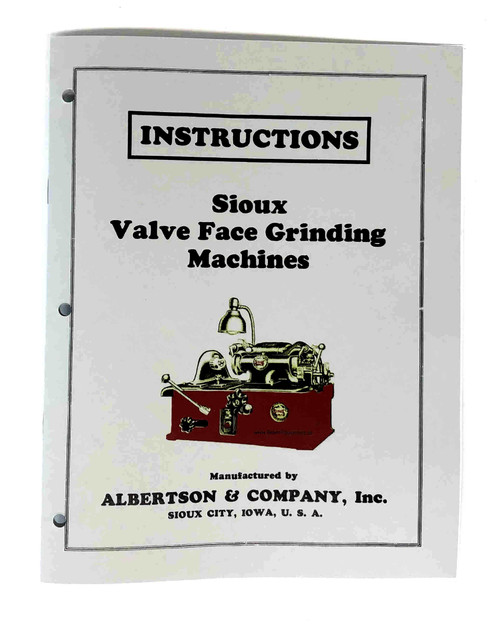 Sioux Model 655 Valve Grinder Manual