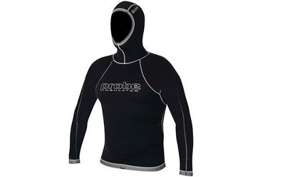 Probe Unisex Insulator 0.5mm Long Sleeve Hooded Top