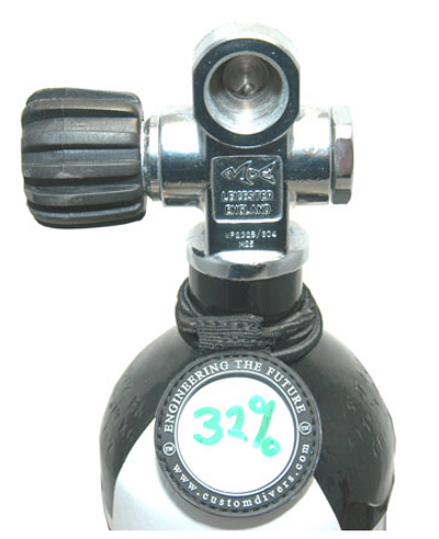 CUSTOM DIVERS CYLINDER CONTENTS MARKER