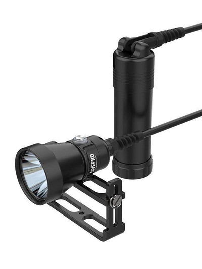 DivePro Canister Light with Rotary Cable (4200 lumens)