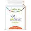 Ahiflower® Seed Oil Capsules | Providing vegan omega 3, 6 and 9 | Free from algae and fish | provides as much omega-rich oil as 320,000 anchovies