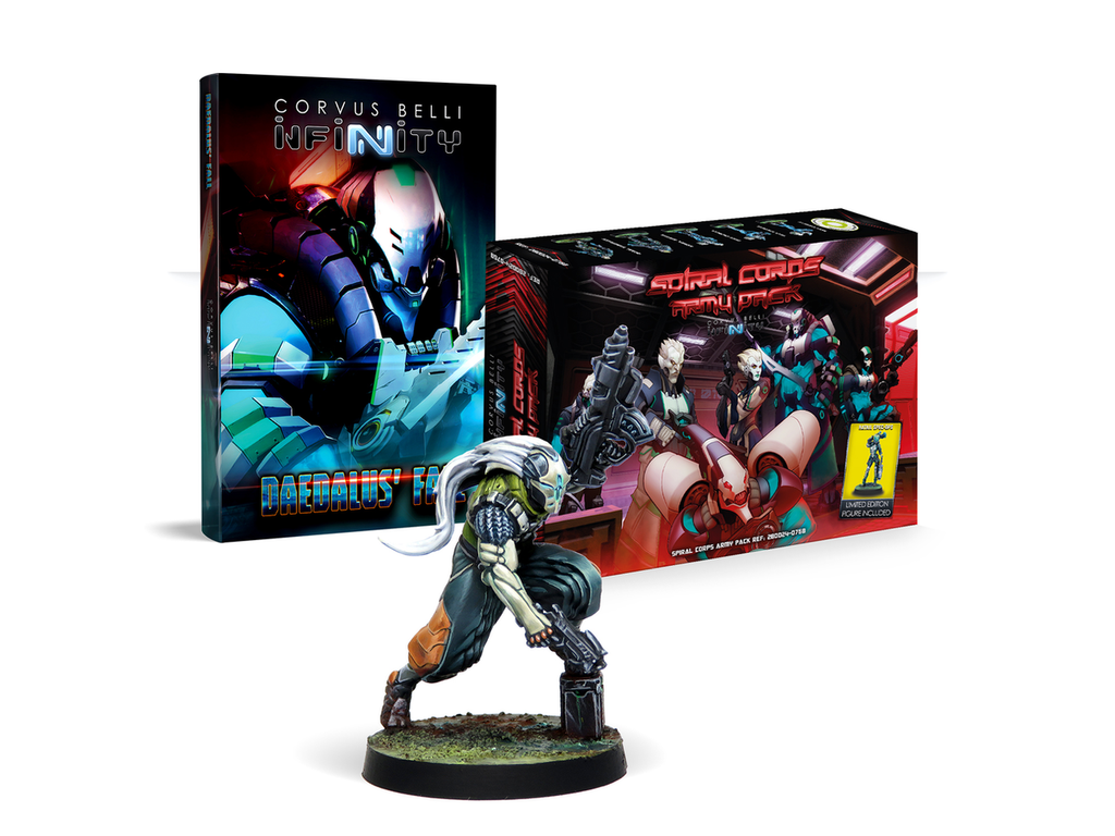 Daedalus' Fall & Spiral Corps Pre-order Bundle w/ 3 Exclusive Miniatures