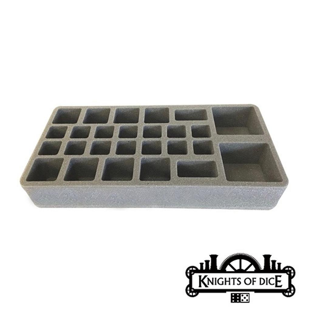Knights of Dice: Strike-26 foam tray 25mm