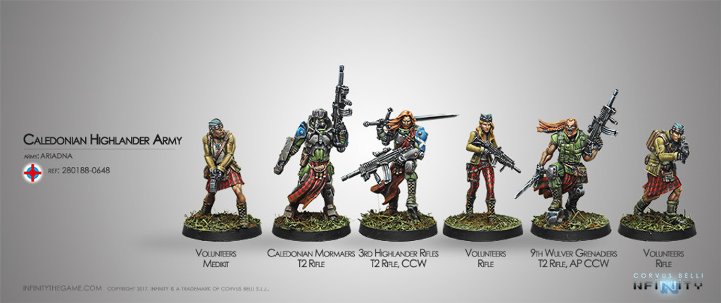 Caledonian Highlander Army (Ariadna Sectorial Starter Pack) - NEW