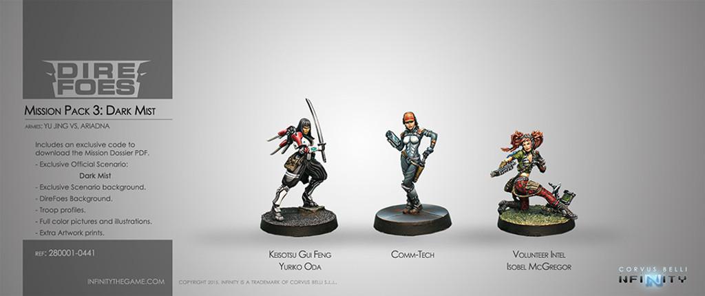 Dire Foes Mission Pack 3: Dark Mist (Caledonia VS Japanese Sectorial Army) Isobel MacGregor, Yuriko Oda, Comm-Tech