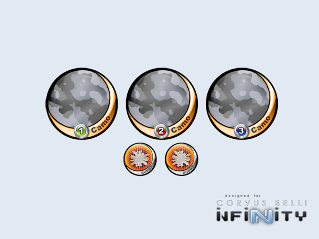 Infinity Tokens Camo Metro 40mm (5)