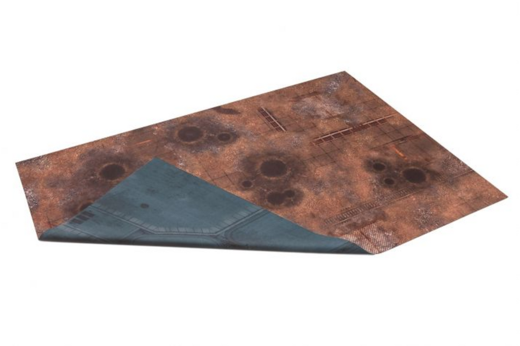 GameMat War Game Mat - Double Sided: Fallout Zone & Imperial Base