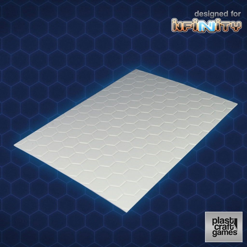 Plast Craft 1mm hexagonal textured PVC sheet