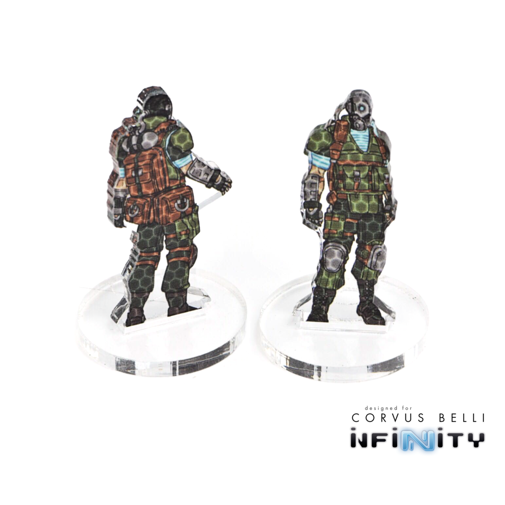 Warsenal - 3D camo tokens (full colour)