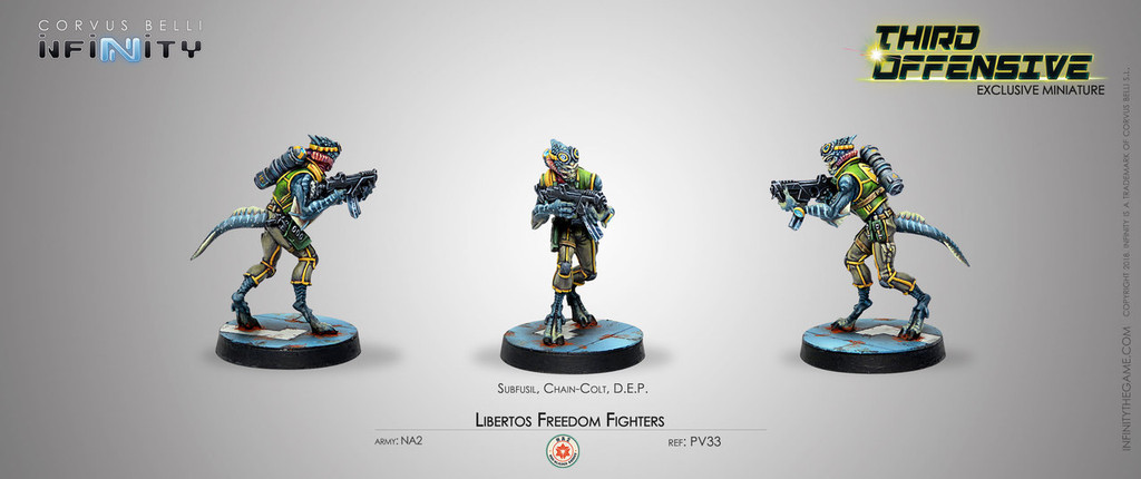 Infinity Third Offensive  - with Libertos Freedom Fighter (Pre-Order Exclusive Model)