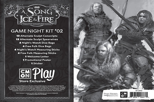 A Song of Ice and Fire Game Night Kit 2 Night Watch VS Free Folk