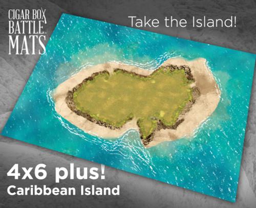Cigar Box Gaming Mats - Caribbean Island 48x72in