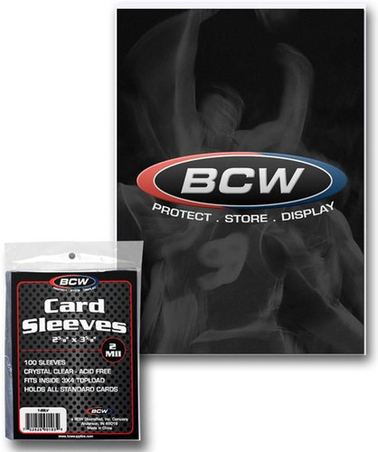 BCW Deck Protectors Standard Clear (100 Sleeves Per Pack)