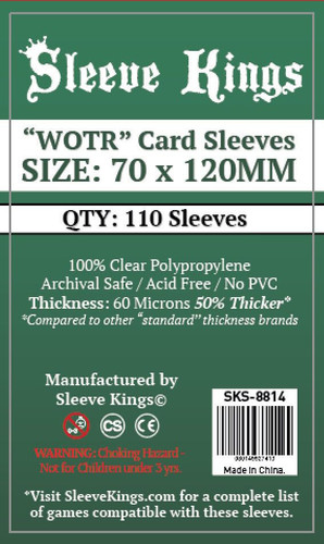 "Sleeve Kings Board Game Sleeves ""WOTR-Tarot"" (70mm x 120mm) (110 Sleeves Per Pack)"