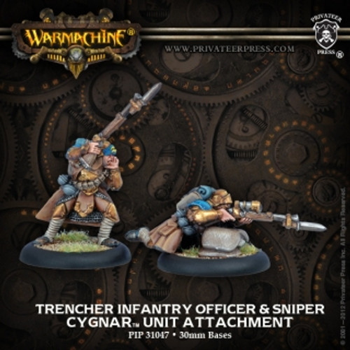 Cygnar Trencher Infantry Officer & Sniper