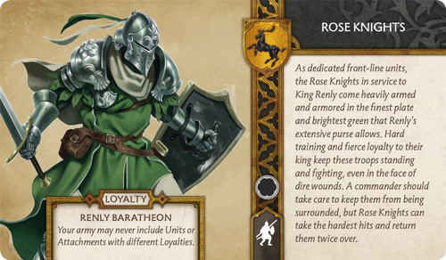 A Song of Ice and Fire Rose Knights
