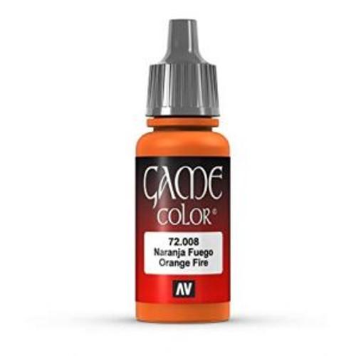 72.008 Vallejo - Game Colour Orange Fire 17 ml Acrylic Paint